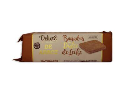 """Galletas de Arroz """"Deluxe Bla Bla"""" – Con Baño de Dulce De Leche"""