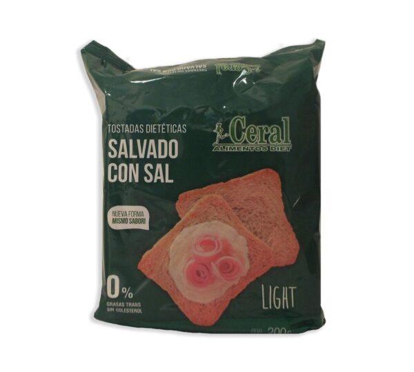 """Tostadas Light """"Ceral"""" - Salvado. Con Sal"""