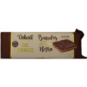 """Galletas de Arroz """"Deluxe Bla Bla"""" – Con Baño de chocolate Negro"""