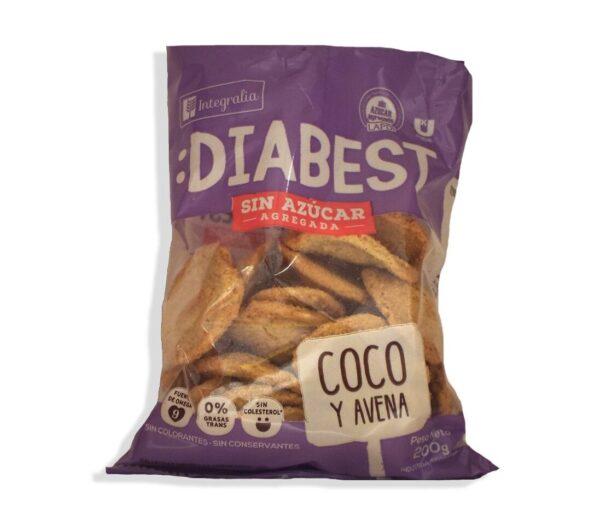 "Galletitas Diabest ""Integralia"" - Coco y Avena"
