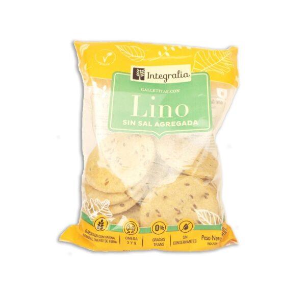 """Crackers """"Integralia"""" -con Lino. Sin Sal"""