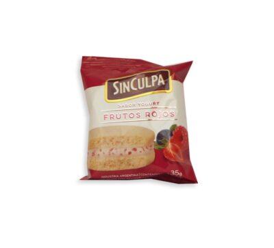 """Alfajor Frutal sabor Yogurt Frutos Rojos """"Sin Culpa"""""""