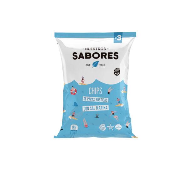 Nuestros Sabores Chips de Papa Y Sal Marina