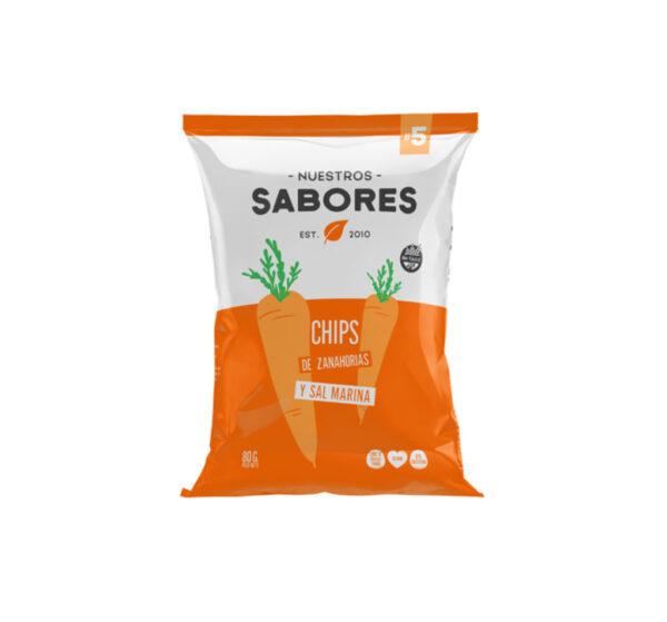 Nuestros Sabores Chips de Zanahorias Y Sal Marina