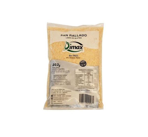 Pan Rallado Libre De Gluten Dimax 250 G